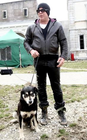 Rourke con Foxy, adottato in Romania